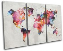 Watercolour  Abstract Maps Flags - 13-6014(00B)-TR32-LO